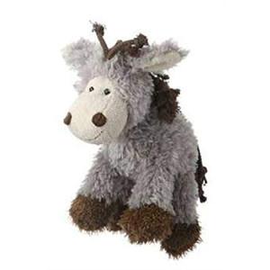 Multipet's Mane Event 11-Inch Donkey Plush Dog Toy