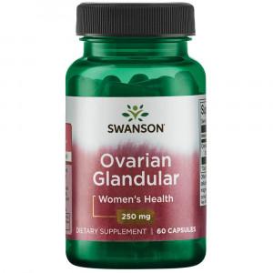 Swanson Ovarian Glandular Women's Hormone Ovarian Health Hormonal Balance Support Supplement 250 mg 60 Capsules