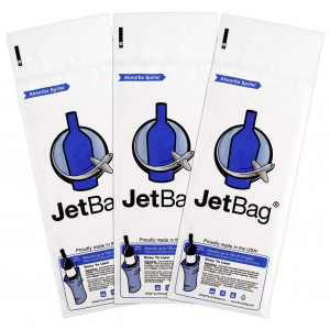 Jet Bag Bold - The Original ABSORBENT Reusable and Protective Bottle Bags - Set of 3 - MADE IN THE USA