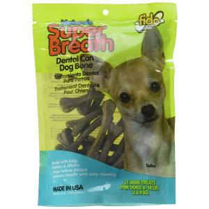 Fido Super Breath Dental Care Dog Bones with Chlorophyll - Large 4 Pack