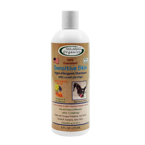 Mad About Organics All Natural Dog Puppy Sensitive Skin Hypo-Allergenic Shampoo Concentrate 8oz