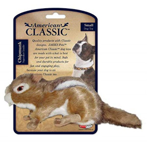 American Classic Fox Dog Toy With Squeaker, Small - Chew Toy, Chipmunk Design