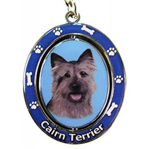 "Cairn Terrier Key Chain ""Spinning Pet Key Chains""Double Sided Spinning Center With Cairn Terriers Face Made Of Heavy Quality Metal Unique Stylish Cairn Terrier Gifts"