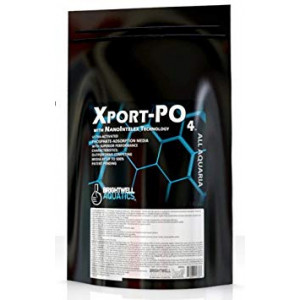 Brightwell Aquatics Xport PO4, ultra-activated phosphate-adsorption media with superior performance characteristics, 700g (1.5lbs)