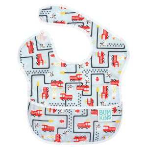 Bumkins SuperBib, Baby Bib, Waterproof, Washable, Stain and Odor Resistant, 6-24 Months  Fire Engine