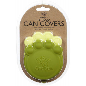 ORE Pet Green and Light Green Paw Can Cover Set
