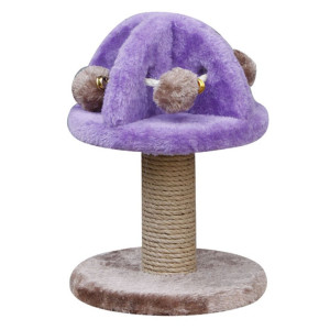 Penn Plax (CATF32) Cat Scratching Post with Plush Cat Toys, Rings, and Rope, 11.5 Inches High