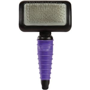 Master Grooming Tools, Ergonomic Slicker Brush XS, Purple