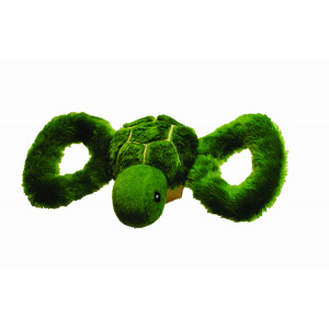 Jolly Pets Tug-a-Mal Turtle | Squeaky Tug Toy for Dogs
