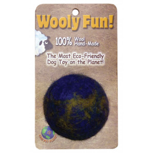 One Pet Planet 86003 2-Inch Wooly Fun Ball Dog Toy