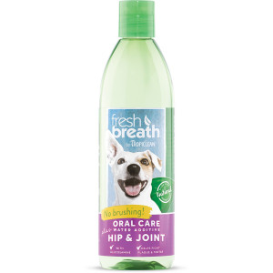 Tropiclean Fresh Breath Plus Hip and Joint Oral Care Water Additive for Pets