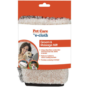 E-Cloth Pet Grooming and Massage Mitt - Safe and Chemical-Free for Dogs, Cats, Horses, Animals - Just Add Water