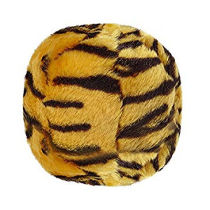 Fluff and Tuff Plush Toy Balls for Dogs, Medium 5.5-Inch