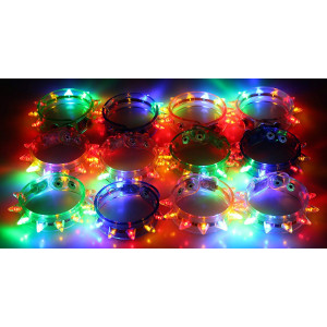 Velocity Toys Light-up Flashing LED Spike Bracelets