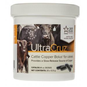 UltraCruz Cattle Copper Bolus for calves, 25 count x 12.5 grams