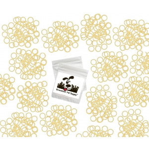 """Downtown Pet Supply 100 Pack Orthodontic Elastics 1/4"""" (6.4mm), Rubber Bands Great for Dog Grooming Top Knots, Bows, Braids, Tooth gaps, and Dreadlocks"""