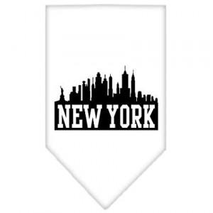 Mirage Pet New York Skyline Screen Print Dog Bandana