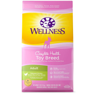 Wellness Complete Health Natural Dry Small Breed Dog Food Toy Breed Chicken and Rice