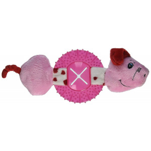 Caitec Chase 'N Chomp Head and Tails Dog Toy, Pig