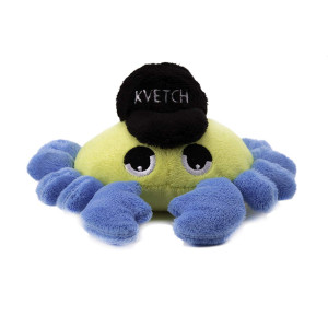 Copa Judaica Chewish Treat Crab Kvetch Squeaker Plush Dog Toy, 6 by 6 by 5.5-Inch, Multicolor