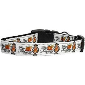 Mirage Pet Products Happy Thanksgiving Dog Collar, Large