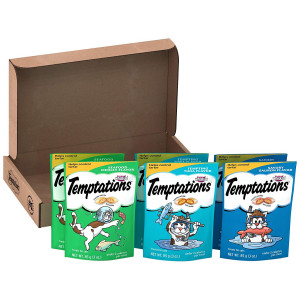 Temptations Treats for Cats Variety Packs (6) 3 oz. Pouches