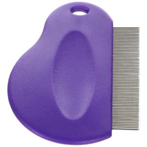 Master Grooming Tools Contoured Grip Flea Combs  Ergonomic Combs for Removing Fleas, Purple