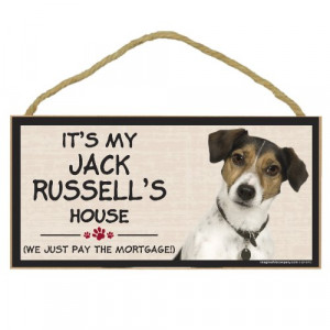 Imagine This Wood Breed Decorative Mortgage Sign, Jack Russell