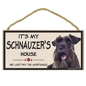 Imagine This Wood Breed Decorative Mortgage Sign, Schnauzer