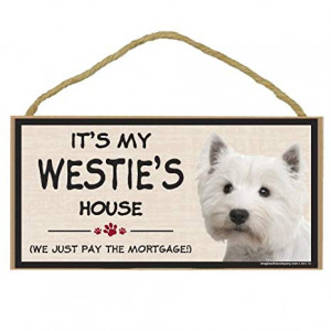 Imagine This Wood Breed Decorative Mortgage Sign, Westie