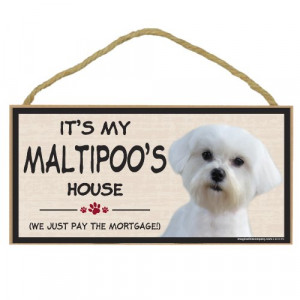Imagine This Wood Breed Decorative Mortgage Sign, Maltipoo