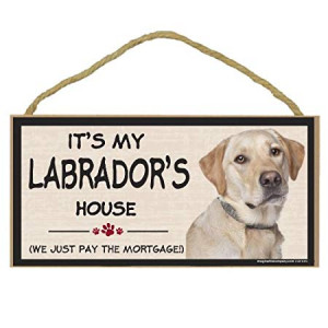 Imagine This Wood Breed Decorative Mortgage Sign, Labrador Yellow