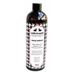 Wolfe and Sparky Organic Itch Buster Shampoo Naturally Relieves Itching from Allergies and Sensitive Skin (16oz)