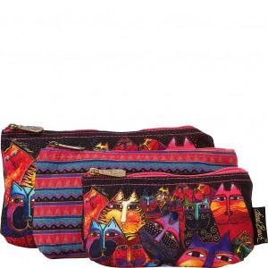Laurel Burch Three in One Cosmetic Bag Set