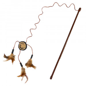 Cat A Lack Wand with Dream Catcher and Feathers Cat Toy