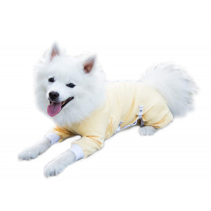 Cover Me by Tui Adjustable Fit Step-into with Long Sleeve for Pets, Large, Yellow