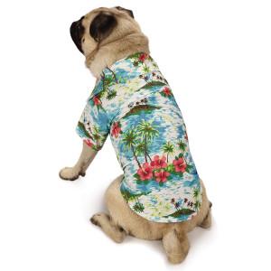 Casual Canine Hawaiian Breeze Camp Shirt Dog