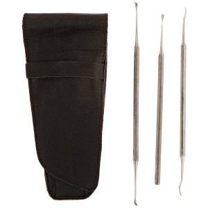 Tamsco Set of 3 Pet Scalers (M-208 VL5, M-206 VL3, M-207 VL4 and B-407) in Leather Case