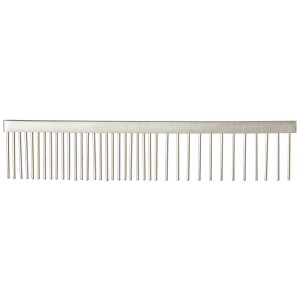 Tamsco Pet Comb, 6-Inch Stainless Steel Medium And Coarse Sides All Stainless Steel Hand Set