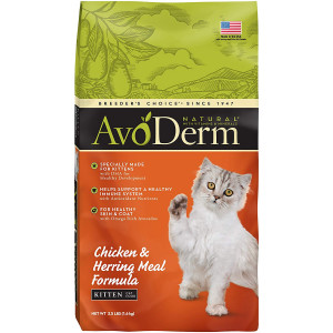 AvoDerm Natural Chicken and Herring Meal Formula Dry Kitten Food