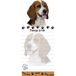EandS Pets Magnetic Die-Cut Notepad, Beagle
