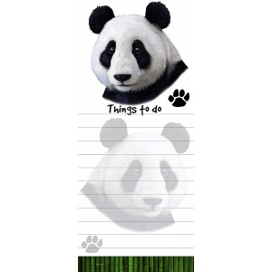 """Panda Magnetic List Pads"" Uniquely Shaped Sticky Notepad Measures 8.5 by 3.5 Inches"