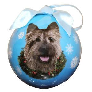 Cairn Terrier Christmas Ornament Shatter Proof Ball Easy To Personalize A Perfect Gift For Cairn Terrier Lovers