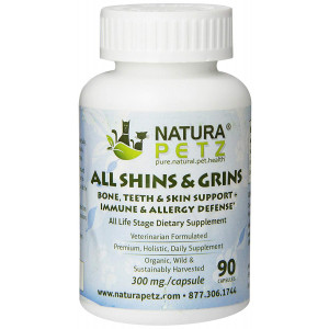 Natura Petz All Shins and Grins - Bone, Eye, Teeth and Skin Support + Immune Health and Allergy Defense