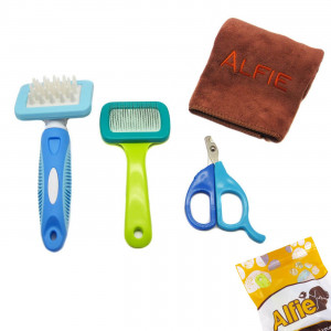 Alfie Pet by Petoga Couture - 3-piece Pet Home Grooming Kit for Rabbit, Chinachilla and Guinea Pig