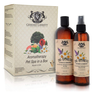 Aromatherapy Pet Spa Duo Dog Shampoo and Dog Grooming Spray Animal Lover Gift Set and Pet Odor Eliminator