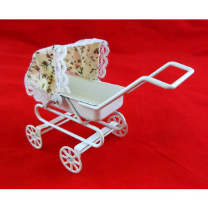 Dollhouse Miniature 1:12 Scale Baby Carriage with Tilt TOP #S8523