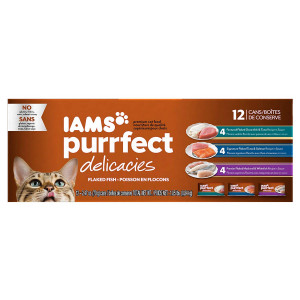 Iams Purrfect Delicacies Flaked Adult Wet Cat Food