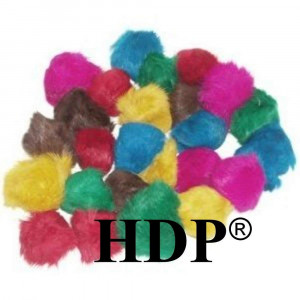 HDP Real Fur Balls 2-2.5 inches each Cat Toys