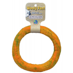 One Pet Planet Wool Dog Toy, 7-Inch, Yellow